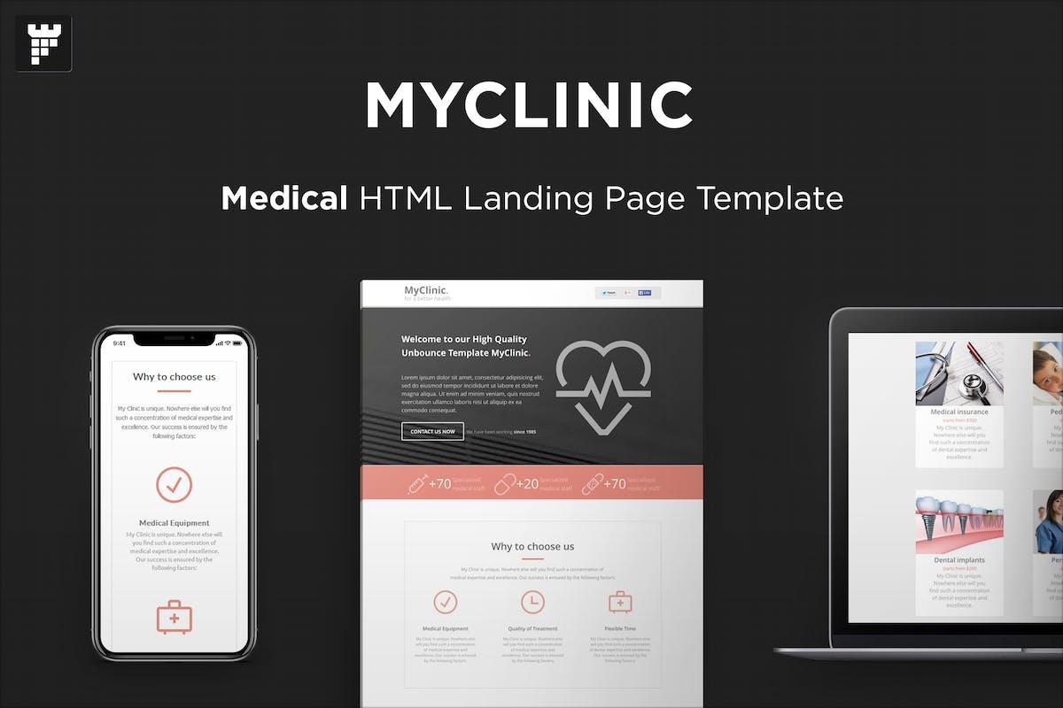 MyClinic - Medical HTML Landing Page by PixFort on Envato Elements