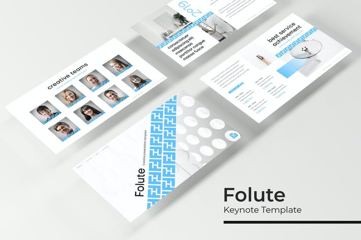 Thumbnail for Folute - Keynote Template