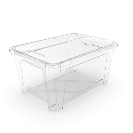 Transparenter Plastikbehälter mit Deckel