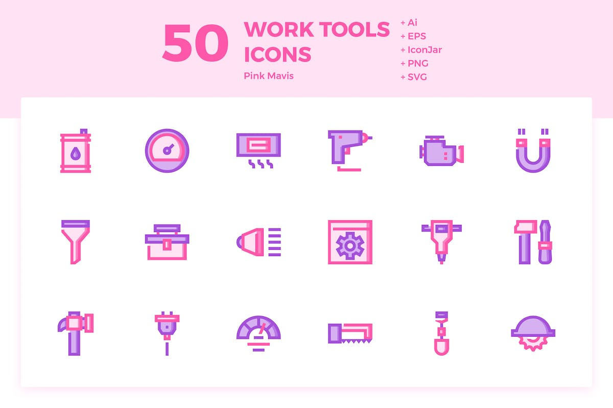 Download 50 Work Tools Icons (Pink Mavis) by KangKikur by Unknow