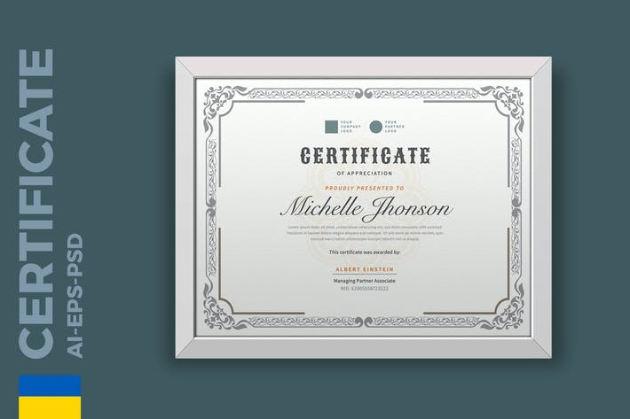 Thumbnail for Classic Certificate / Diploma Template Pro