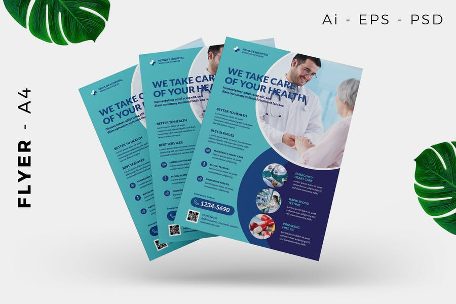 Health Medical Doctor Flyer Design