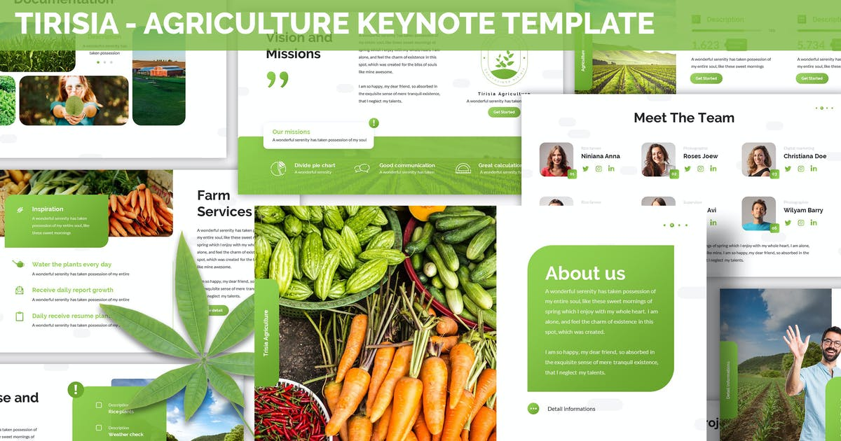 Download Tirisia - Agriculture Keynote Template by SlideFactory