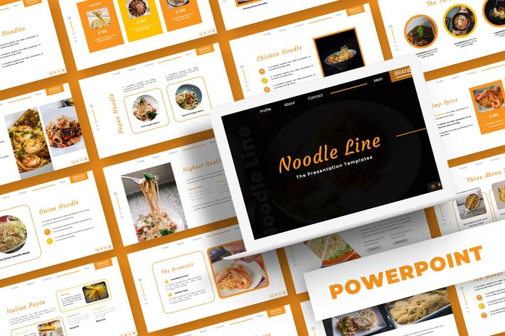 Thumbnail for Noodle Line - Powerpoint Template