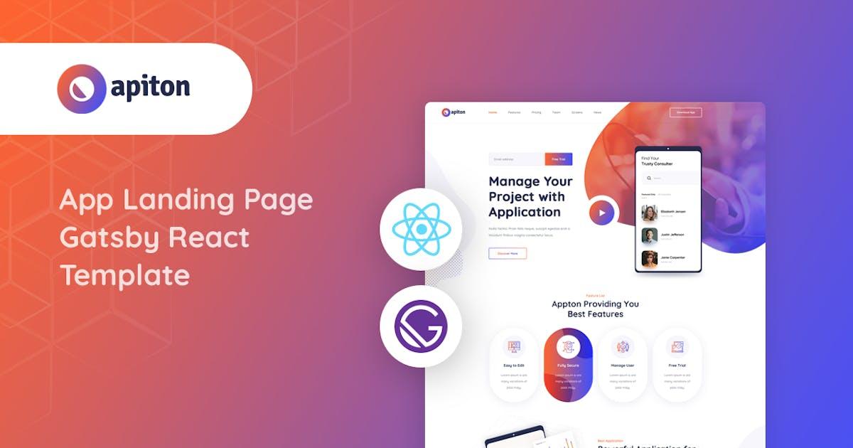 Download Apiton - Gatsby React App Landing Page Template by Layerdrops