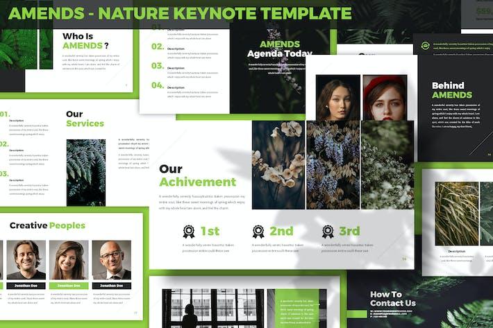 Внесение изменений - Шаблон ключевых заметок природы