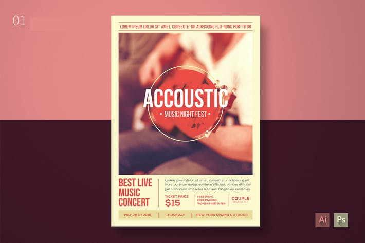 Thumbnail for Accoustic Music Flyer