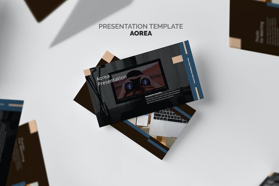 Aorea : Socmed Marketing Pitch Deck Google Slides