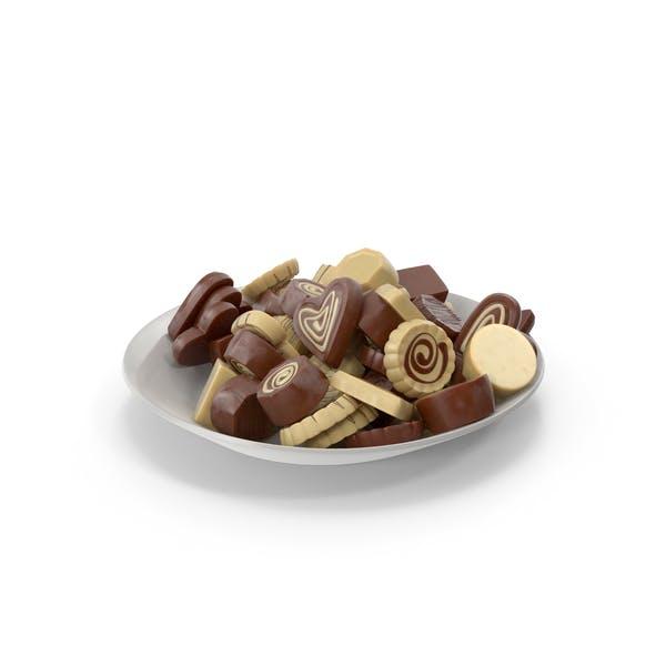 Тарелка с трюфельными шоколадными конфе