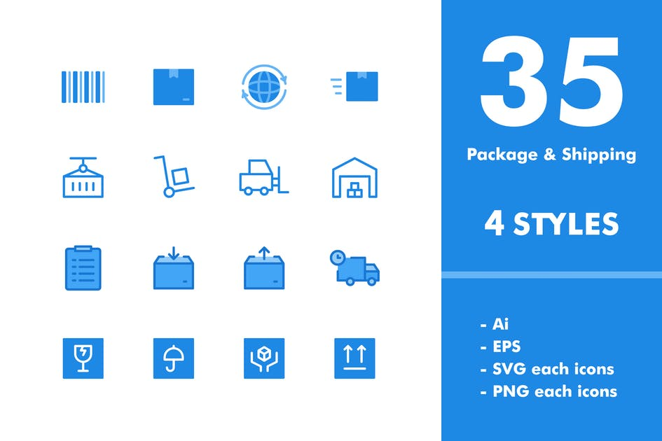 Download Package & Shipping Icon Set by deemakdaksinas