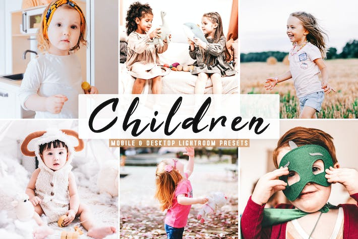 Thumbnail for Children Mobile & Desktop Lightroom Presets