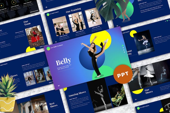 Thumbnail for Belly - Ballet Powerpoint Template