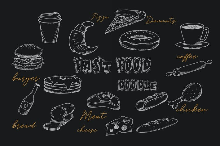 Thumbnail for Fast Food Doodle Collection