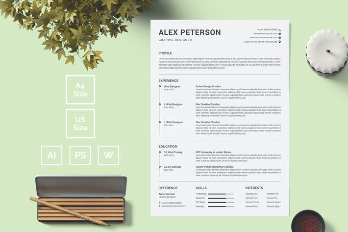 Thumbnail for Resume Template 14
