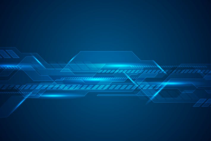 Cover Image For Dark blue technology futuristic background