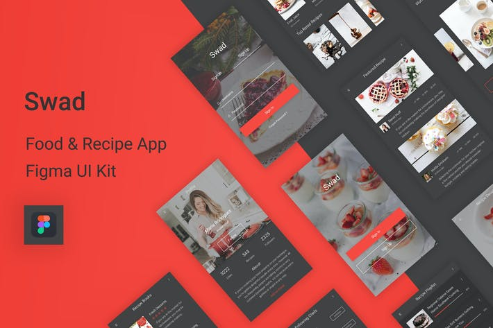 Thumbnail for Swad - Food & Recipe Figma UI Kit