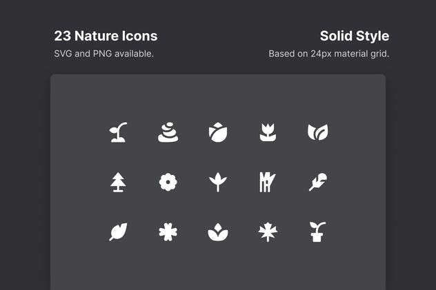 Nature Icons - Solid Style