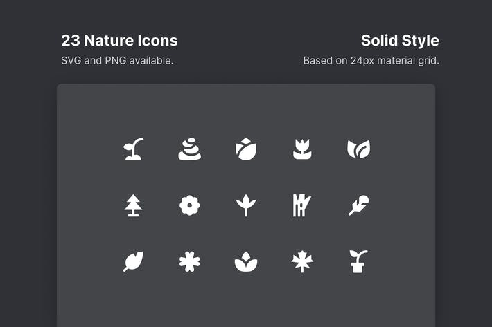 NaturIcons - Solid Style