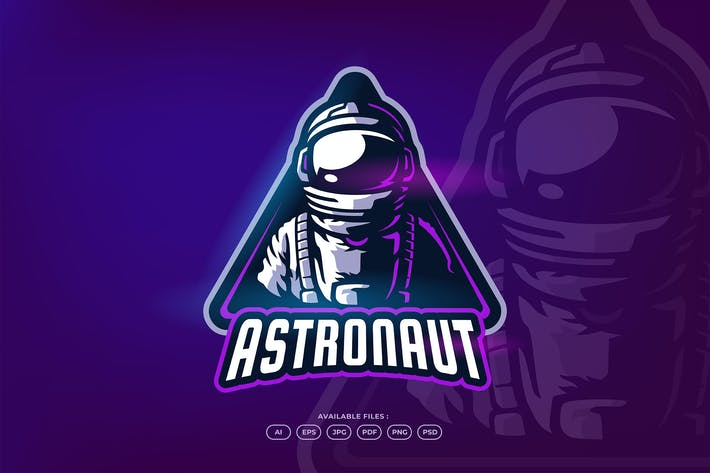 Thumbnail for Astronaut Sport and Esport Gaming Logo