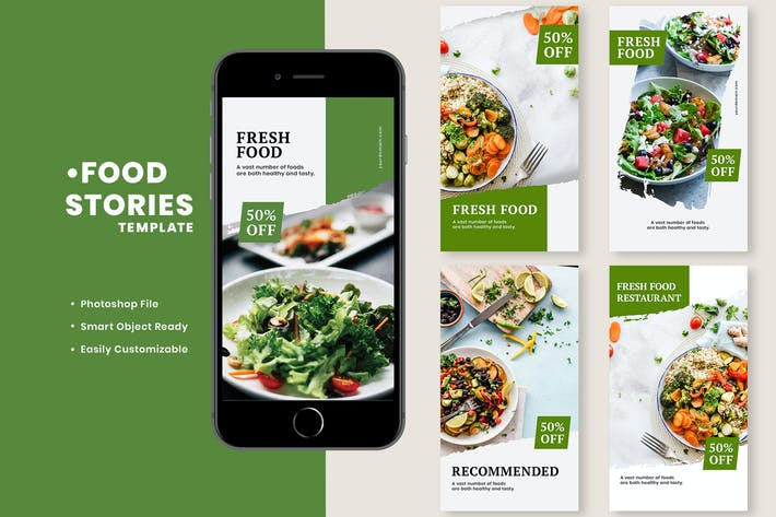 Thumbnail for Fresh Food Instagram Stories Template
