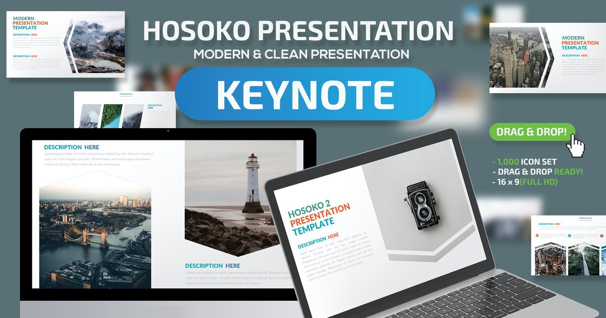 Download Hosoko Keynote Presentation Template by mamanamsai