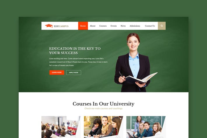 Thumbnail for Educampus - Education & University PSD Template