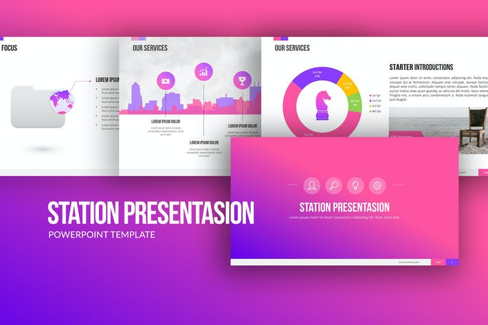 Cover Image For Station Powerpoint Presentation
