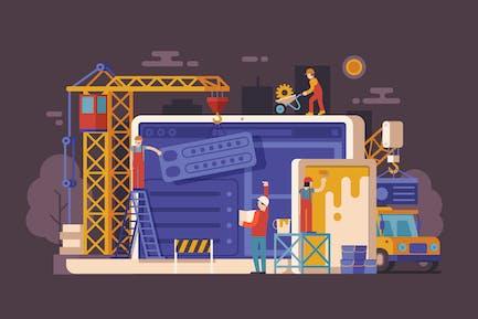 Webseite im Bau Konzept