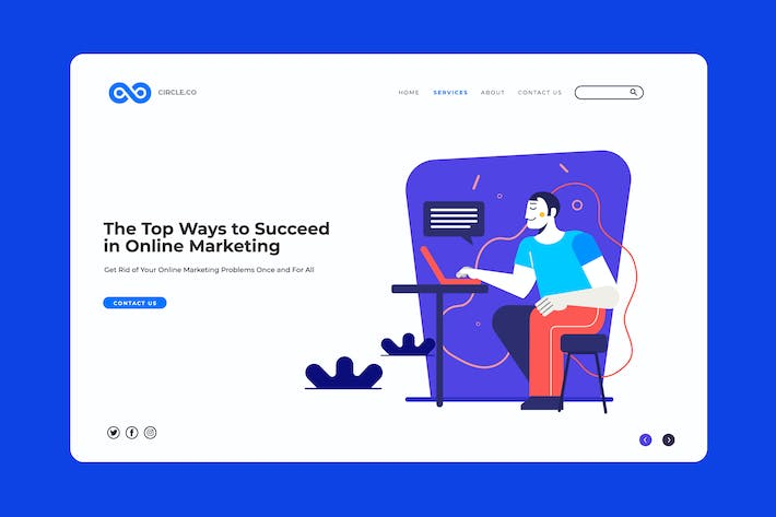 Thumbnail for Chill Marketing Landing Page