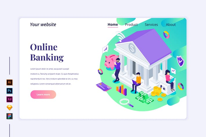 Thumbnail for Agnytemp - Online Banking Wohnung Isometrisch