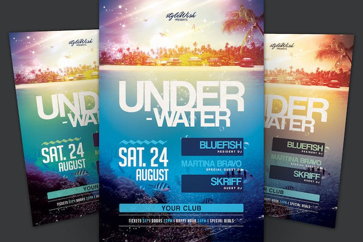 Thumbnail for Underwater Party Flyer