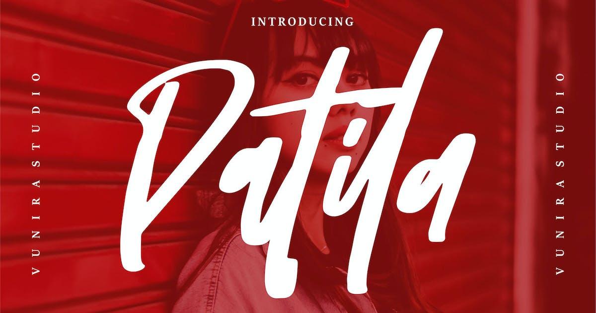 Download Patila | A Modern Handwritten Font by Vunira