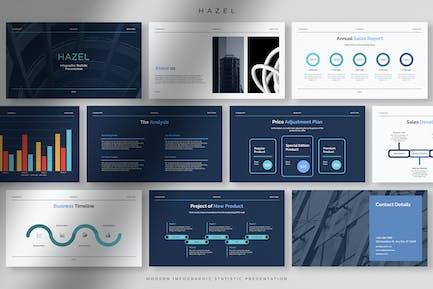 Hazel - Professional Modern Infographic Statistic