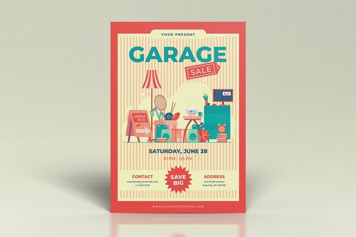 Thumbnail for Garage Sale Orange Flyers