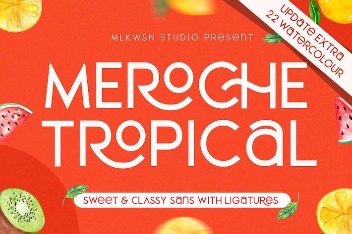 Thumbnail for Meroche - Sweet Classy Sans Ligature + (Bonus)