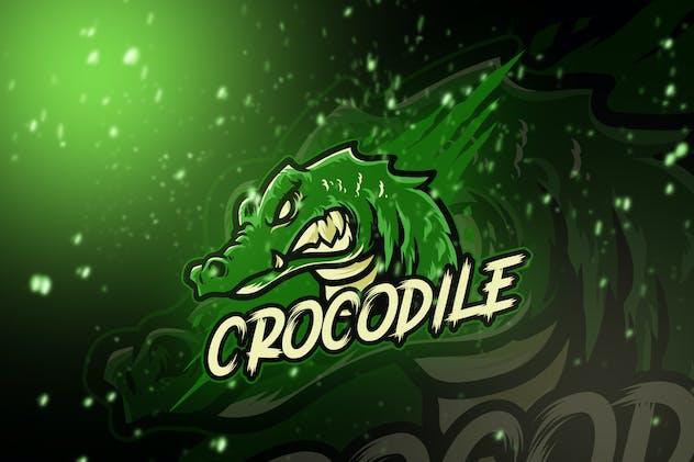 Crocodile Esport Logo Template - product preview 0