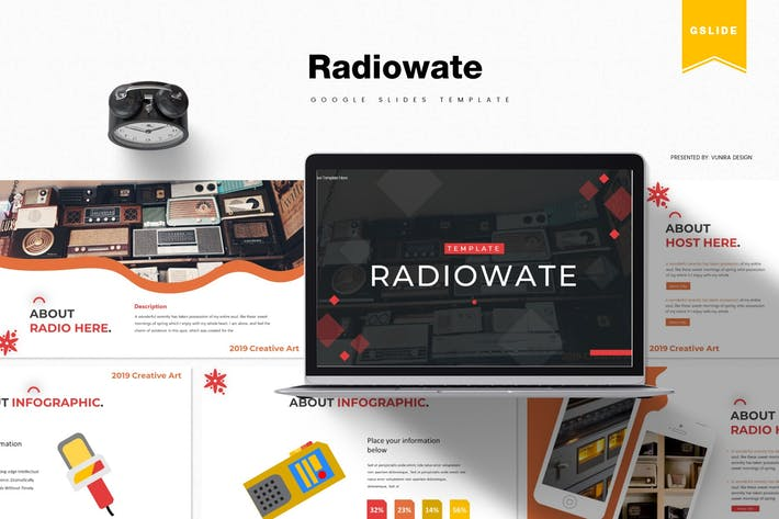 Thumbnail for Radiowate | Google PräsentationsVorlage