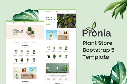 Pronia - Plant Store Bootstrap 5 Template