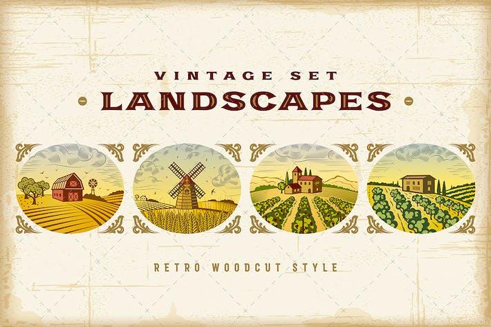 Thumbnail for Kit de Paisajes Colorido Vintage