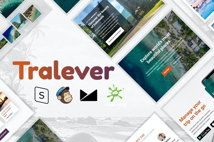 Thumbnail for Tralever - Book & Travel Responsive Email