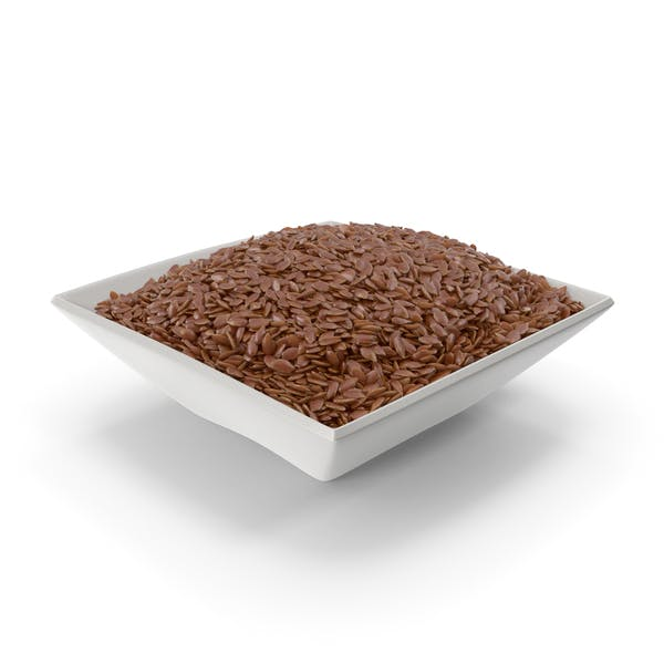 Square Bowl With Flax Seeds