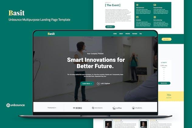 Basit — Unbounce Multipurpose Landing Page