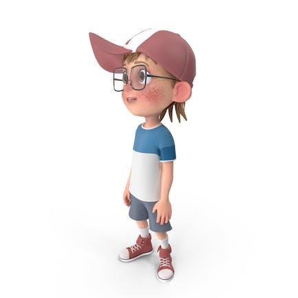 Cartoon Junge suchen nach oben