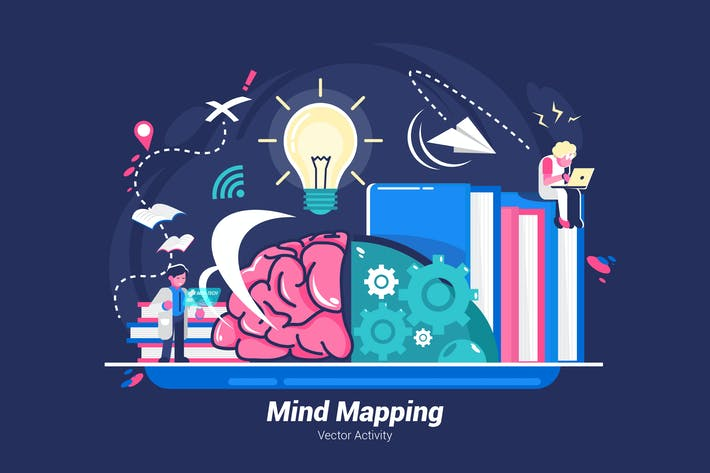 Thumbnail for Mind Mapping - Vector Illustration