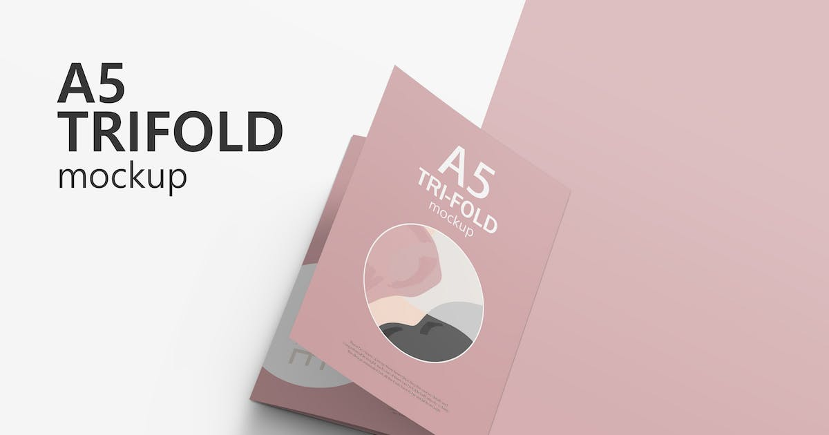 Download A5 Trifold Brochure Mockup by GraphicMonday