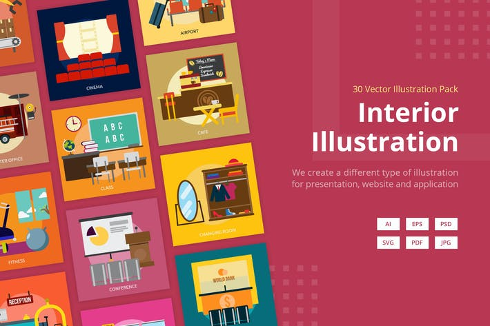 Thumbnail for Interior Vector Illustration