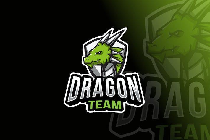 Thumbnail for Dragon Team Logo Template