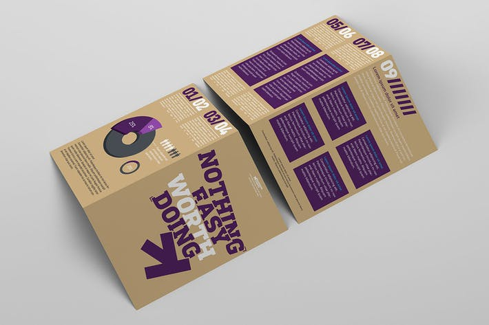 Thumbnail for Bi-fold Brochure Mockup Pack