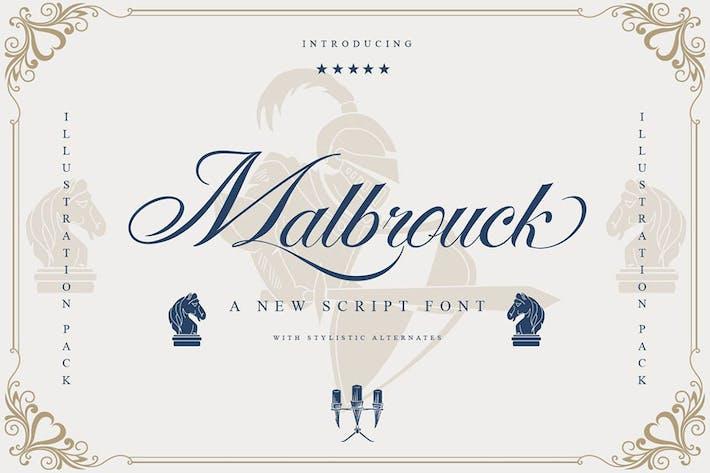 Malbrouck Classic Script Font