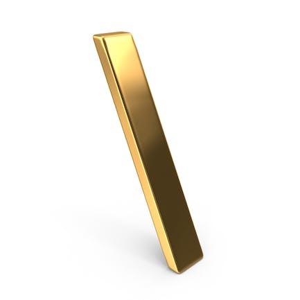 Gold Backslash Symbol